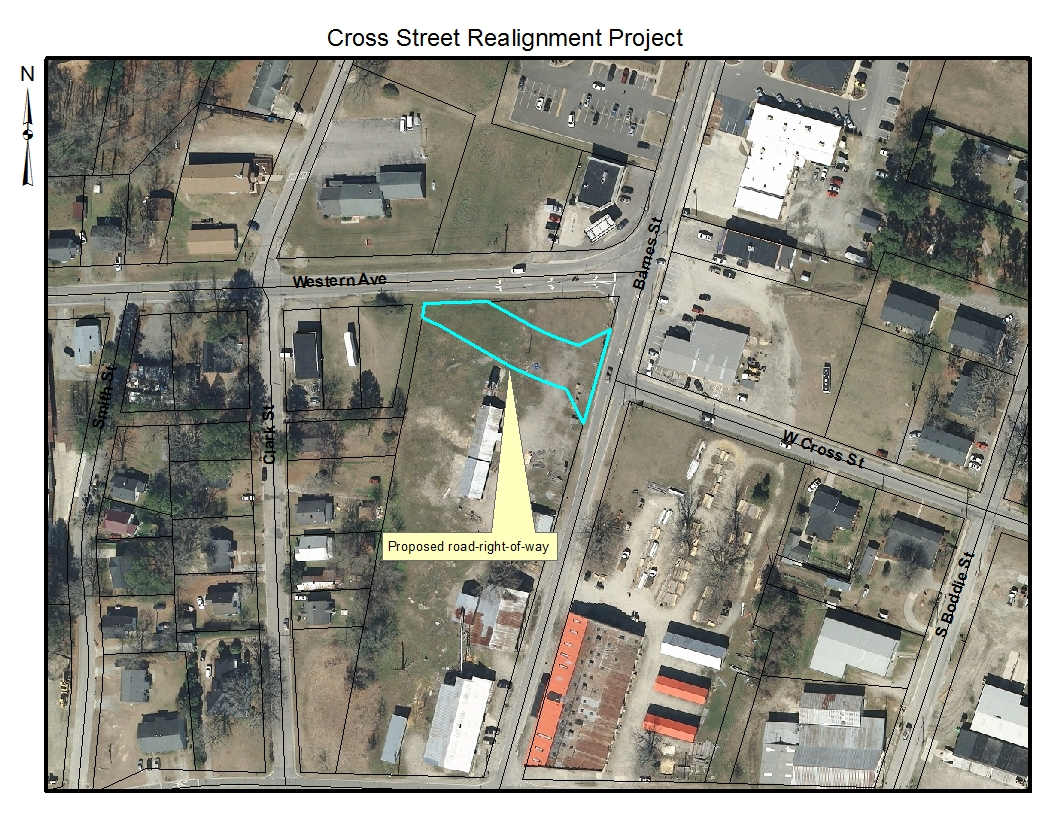 Cross Street Realignment Project Area